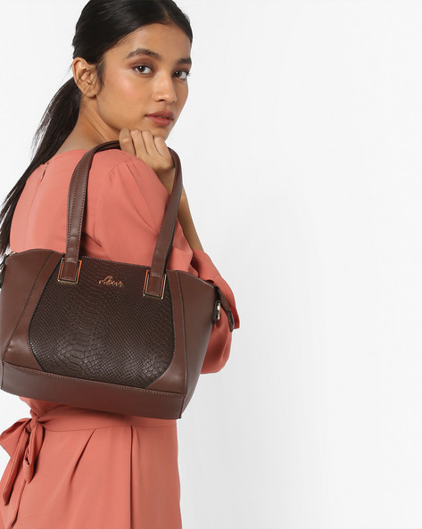 Beacon Handbag With Detachable Strap By Lavie ( Brown )