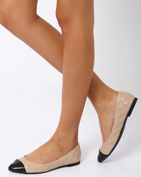 Quilted Ballerinas By Carlton London ( Brown )