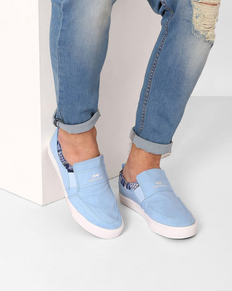 Canvas Slip-On Sneakers By Spunk ( Blue )