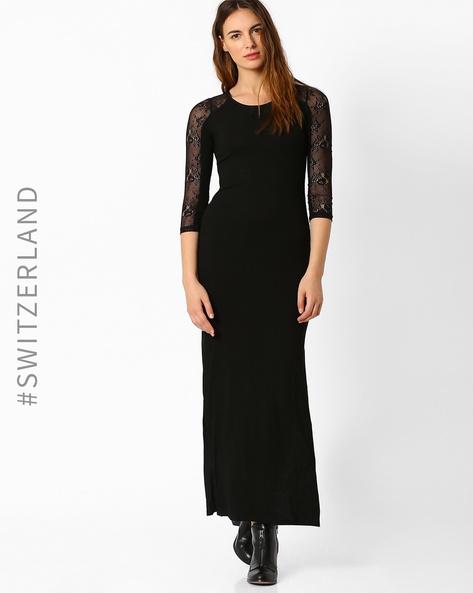 Bodycon Maxi Dress By TALLY WEiJL ( Black )