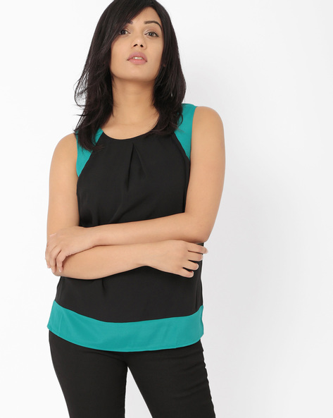 Sleeveless Top By Oxolloxo ( Green )