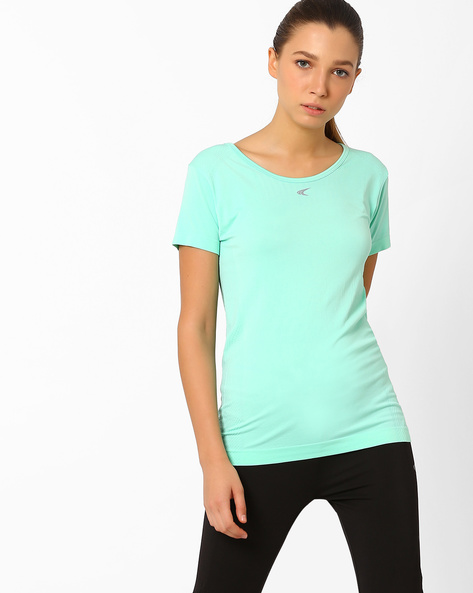 QuickDry T-shirt With Short Sleeves By PERFORMAX ( Aqua )