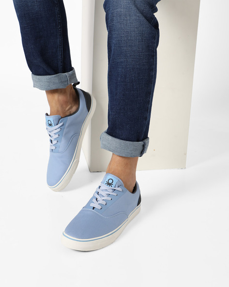 Panelled Canvas Casual Shoes By UNITED COLORS OF BENETTON ( Blue )