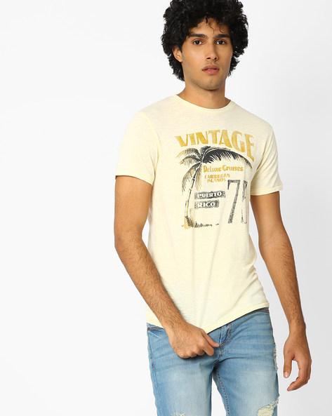 Slim Fit Printed T-shirt By Jack & Jones ( White )