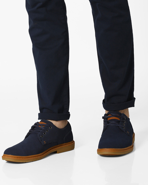 Panelled Colourblock Shoes By AJIO ( Navy )