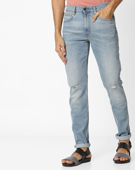 Slim Fit Distressed Jeans By LEVIS ( Blue )