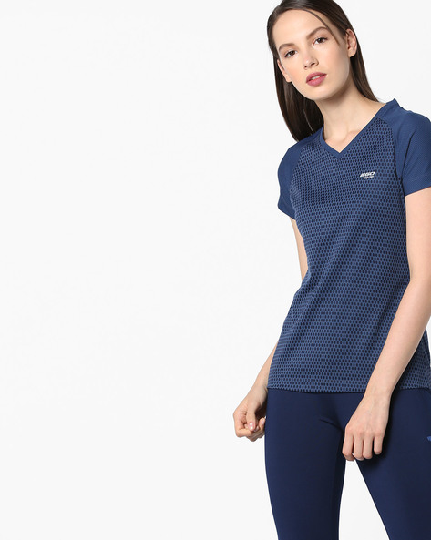 V-neck T-shirt With GoDRY Technology By 2Go ( Blue )