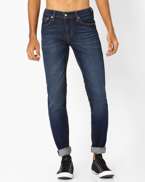 511 Slim Fit Lightly Washed Jeans By LEVIS ( Blue )