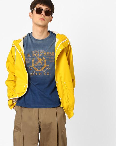 Graphic Print Crew-Neck T-shirt By US POLO ( Indigo )