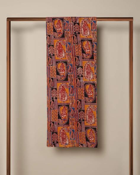 Printed Cotton Kalamkari Kurta Fabric By Indie Picks ( Multi ) - 460103639001