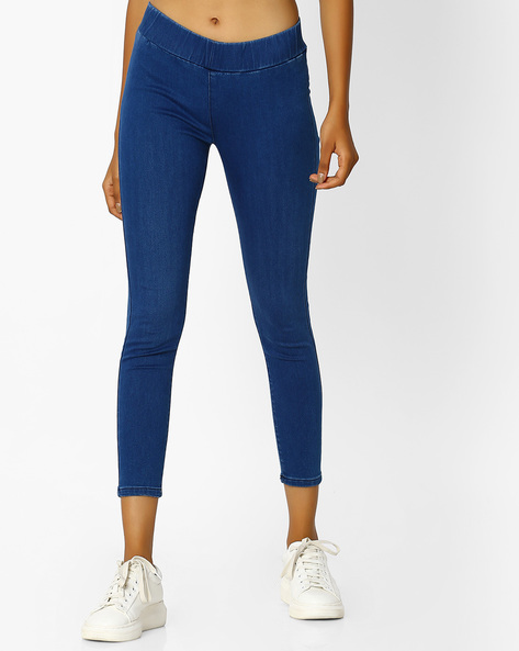 Ankle-Length Jeggings By Pepe Jeans ( Blue )