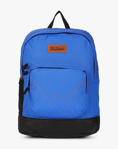 Panelled Canvas Laptop Backpack By WRANGLER ( Lightblue )