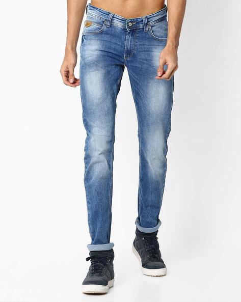 Low-Rise Skinny Fit Jeans By SPYKAR ( Lightblue )