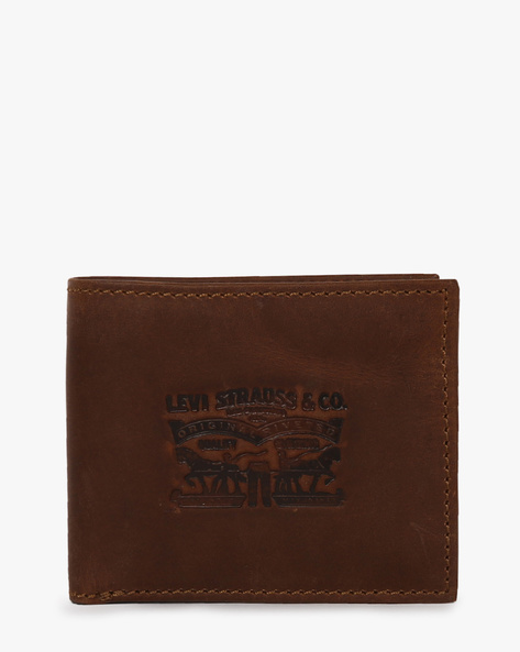 Bi-Fold Faux Leather Wallet By LEVIS ( Brown )