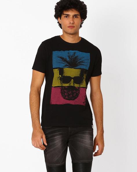 Graphic Print T-shirt By Garcon ( Black )