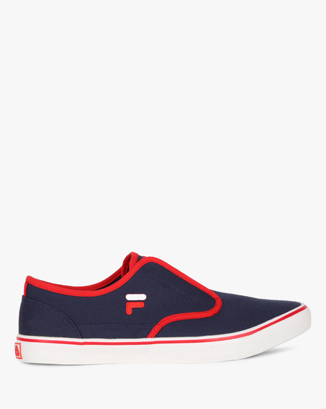 Slip-On Shoes With Contrast Edges By FILA ( Blue )