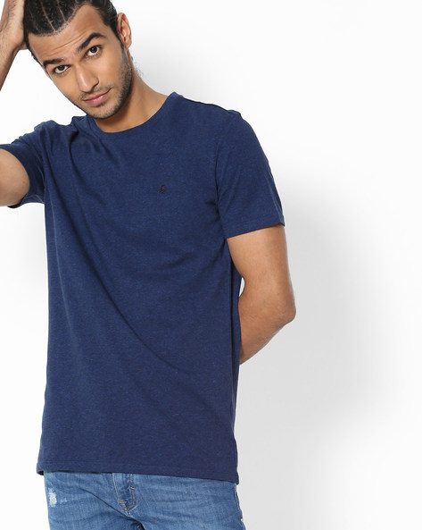 Heathered Crew-Neck T-shirt By UNITED COLORS OF BENETTON ( Assorted )