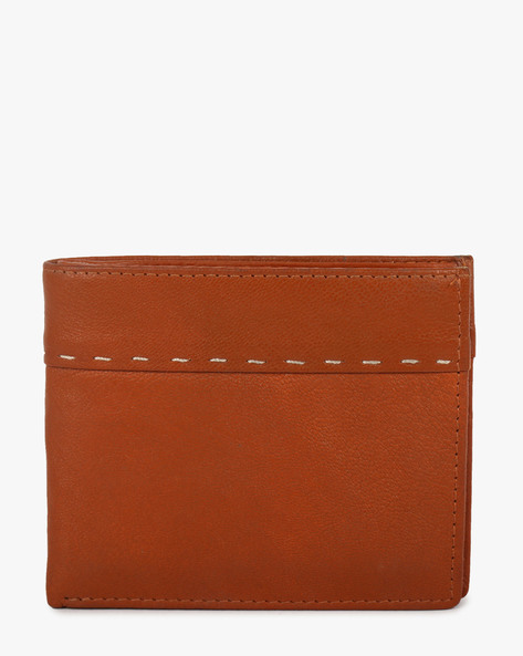 Textured Bi-Fold Wallet By TEAKWOOD LEATHERS ( Tan )