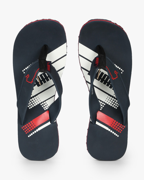 Dilute IDP Flip-Flops With Branding By Puma ( Navyblue )