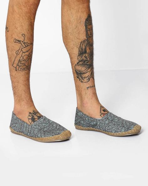 Slip-On Canvas Espadrilles By FAMOZI ( Green )