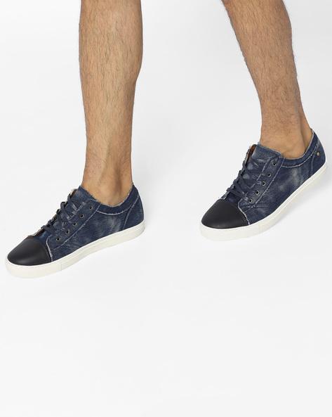 Lace-Up Casual Shoes By AERO BLUEZ ( Denim )