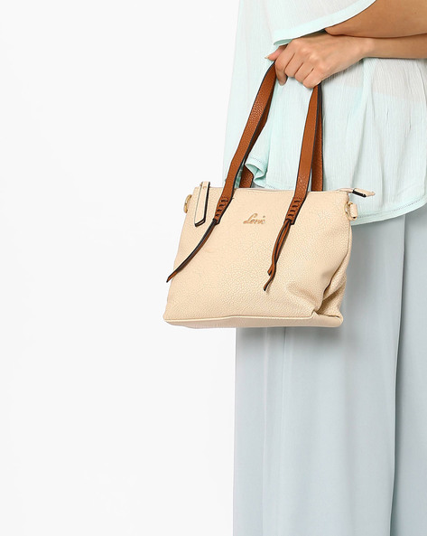 Textured Shoulder Bag By Lavie ( Beige )