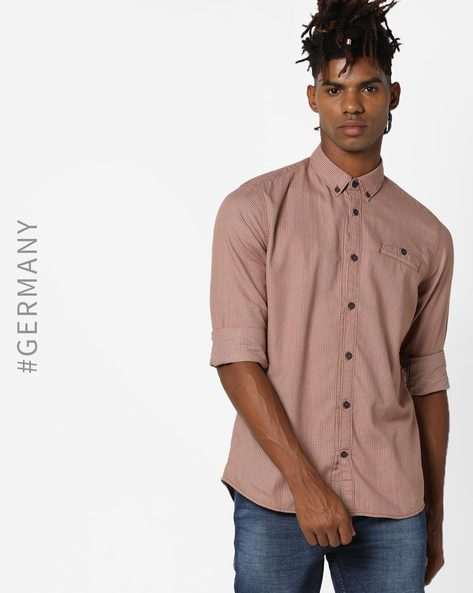 Shirt With Button-Down Collar By Tom Tailor ( Orange )