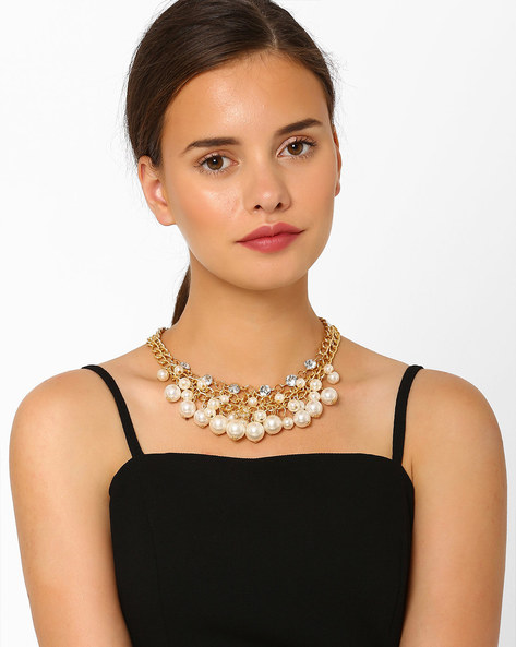 Clustered Pearl Multistrand Necklace By Style Fiesta ( Multi )