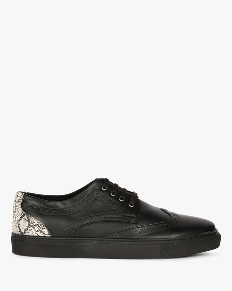 Panelled Low-Top Sneakers With Boruging By Funk ( Black )