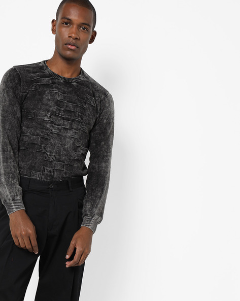 Crew-Neck Pullover With Ribbed Hems By Killer ( Black )