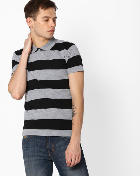 Tailored Fit Pack Of 2 T-shirts By DUKE ( Greymelange )