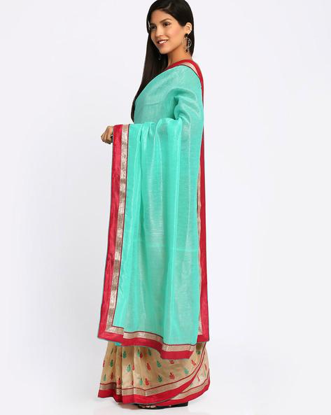 Bhagalpuri Art Silk Saree By Viva N Diva ( Turqouise )