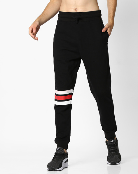 Joggers With Contrast Stripes By DEEZENO ( Black )