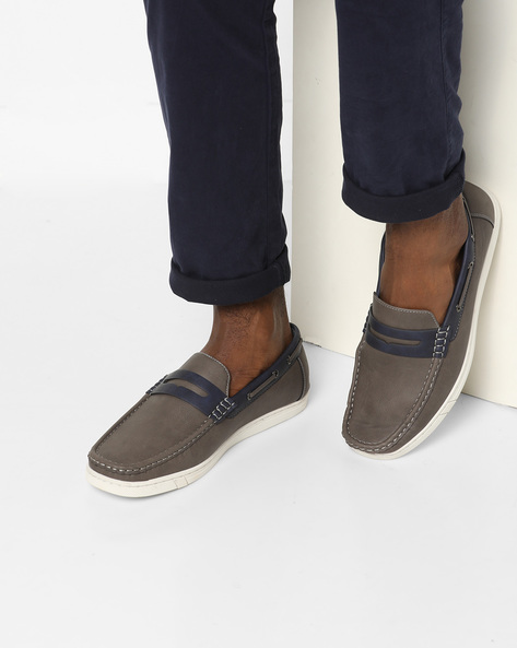 Textured Slip-On Casual Shoes By Spunk ( Gray )