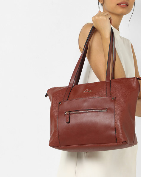 Skylon Textured Tote Bag By Lavie ( Tan )