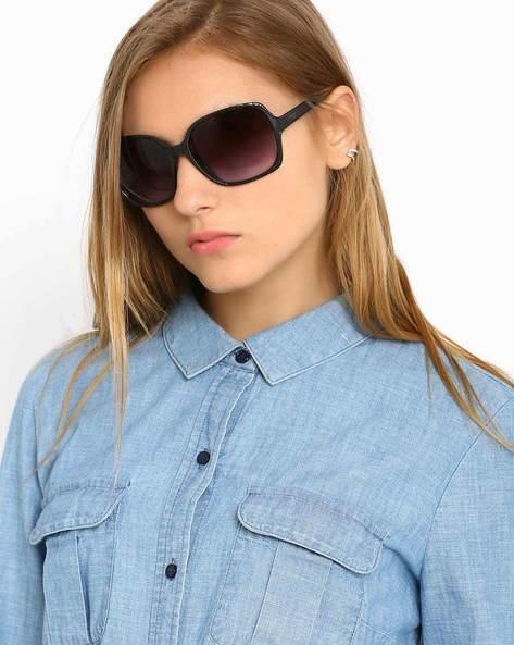 Oversized Sunglasses By Image ( Black ) - 460019275001