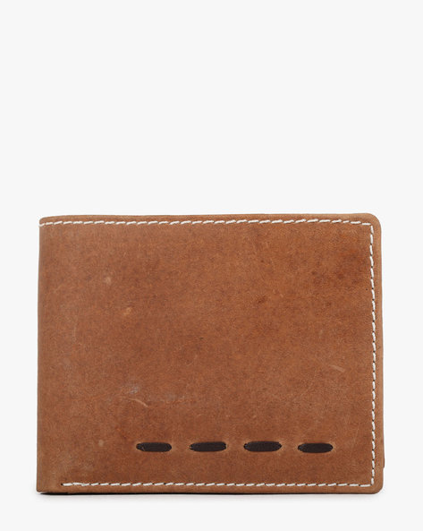 Genuine Leather Bi-Fold Wallet By TEAKWOOD LEATHERS ( Tan )
