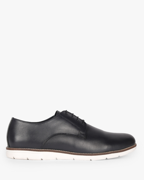 Lace-Up Shoes With Contrast Sole By Carlton London ( Blue )