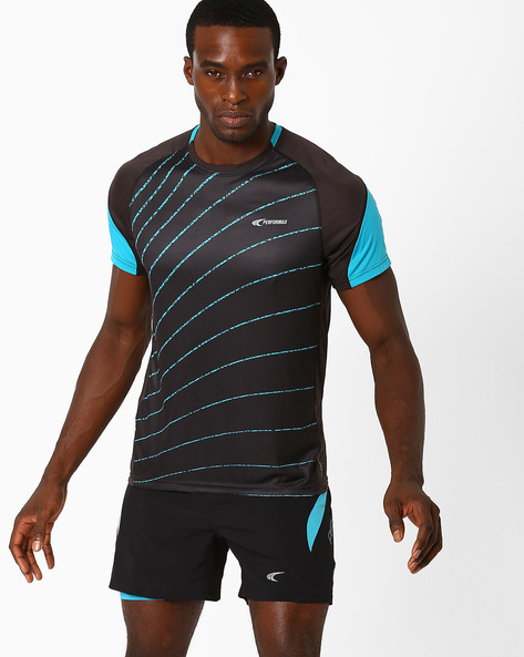 Reflective Running T-shirt With Quick Dry By PERFORMAX ( Black )