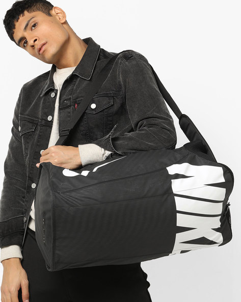 Printed Duffel Bag With Adjustable Straps By NIKE ( Black )