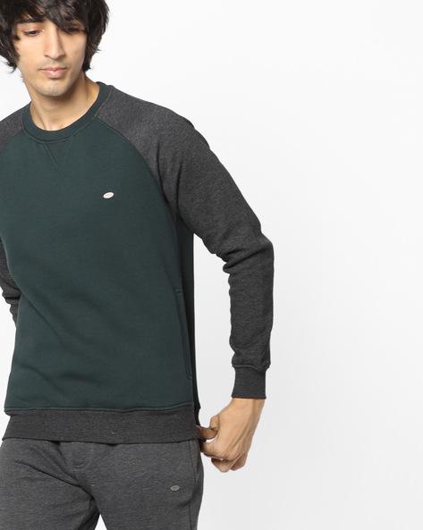 Crew-Neck Sweatshirt With Raglan Sleeves By PROLINE ( Ltgreen )
