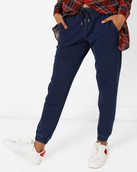 Jogger Pants With Elasticated Waistband By Vero Moda ( Fuschiablue )