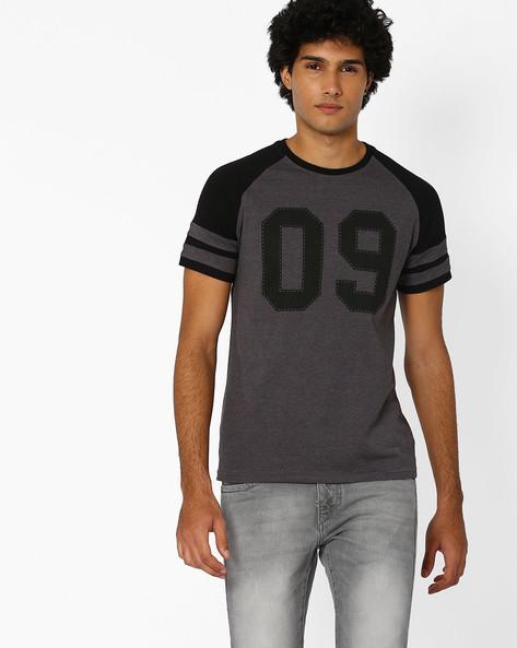 Colourblock Regular Fit T-shirt By Garcon ( Assorted )