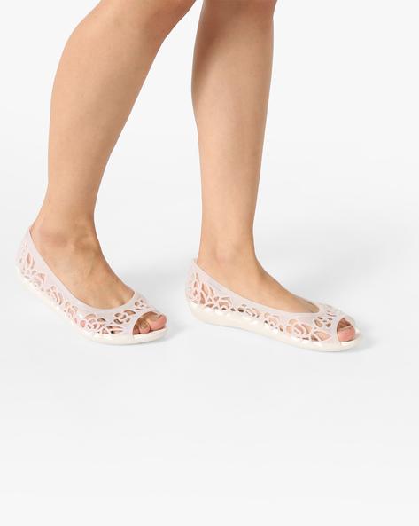 Peep-Toe Croslite Ballerinas By CROCS ( Oysglt )