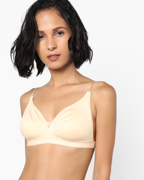 Non-Padded Cotton T-shirt Bra By Clovia ( Beige )