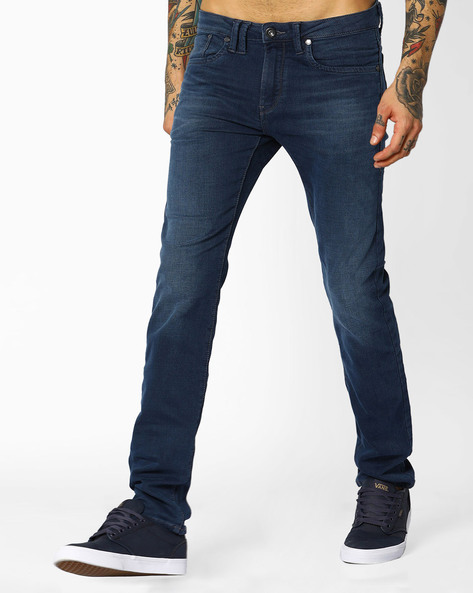Mid-Rise Michael Slim Fit Jeans By FLYING MACHINE ( Blue )