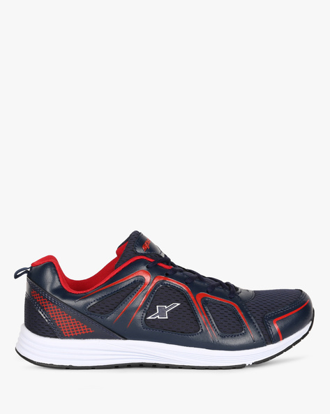 Colourblock Lace-Up Sports Shoes By SPARX ( Navy ) - 460189434010