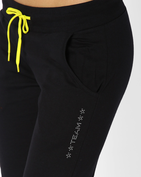 Joggers With Elasticated Waist By AJIO ( Black )