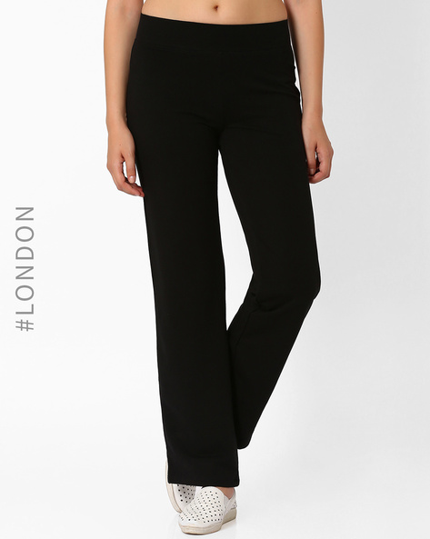 Straight-Leg Cotton Rich Jogger Pants By Marks & Spencer ( Black )