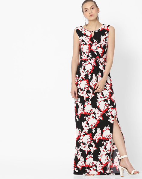 Floral Print Maxi Dress By Avirate ( Multi )